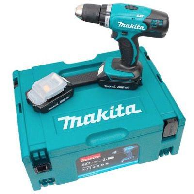 Makita Akku-Bohrschrauber DDF453SYJ  inkl. 2 Akkus & Ladegerät und Makpak für 185,94€ (statt 251€)