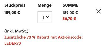 Fossil Wiley Handtasche aus Leder für 56,70€ (statt 119€)