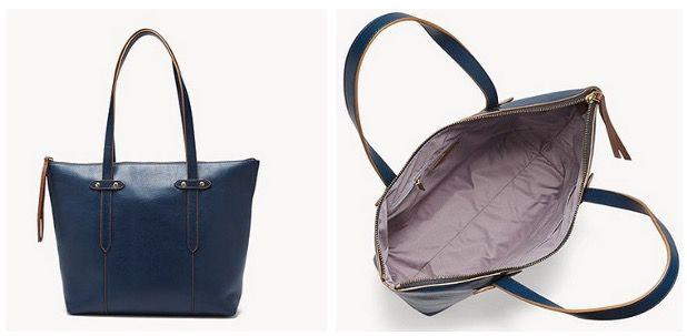 FOSSIL Damen Shopper Felicity SHB1981497 aus Leder in Blau 56,70€ (statt 189€)