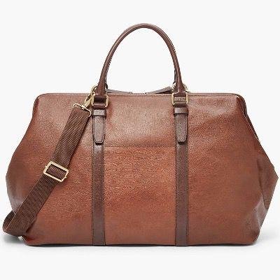 FOSSIL Herren Tasche Even Duffle-Bag aus Leder in Braun für 119,70€ (statt 263€)
