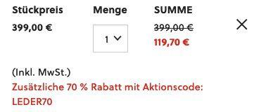 FOSSIL Herren Tasche Even Duffle Bag aus Leder in Braun für 119,70€ (statt 263€)