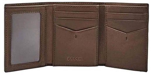 FOSSIL Herren Geldbörse Allen mit RFID Trifold aus braunem Leder für 16,50€ (statt 44€)