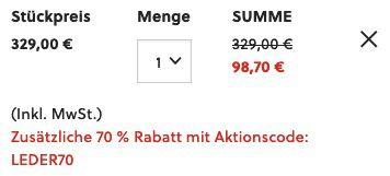 FOSSIL Herren Rucksack Evan mit Notebook Fach aus Leder in Schwarz oder Braun für 98,70€ (statt 204€)