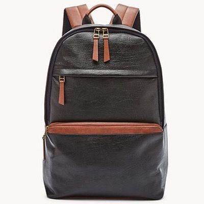 FOSSIL Herren Rucksack Evan mit Notebook-Fach aus Leder in Schwarz oder Braun für 98,70€ (statt 204€)