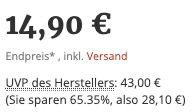 12 Monate zuhause wohnen für 14,90€ (statt 43€)