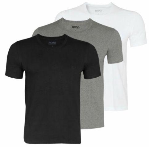 3er Pack HUGO BOSS Herren T Shirts in unterschiedlichen Ausführungen für 29,99€ (statt 38€)