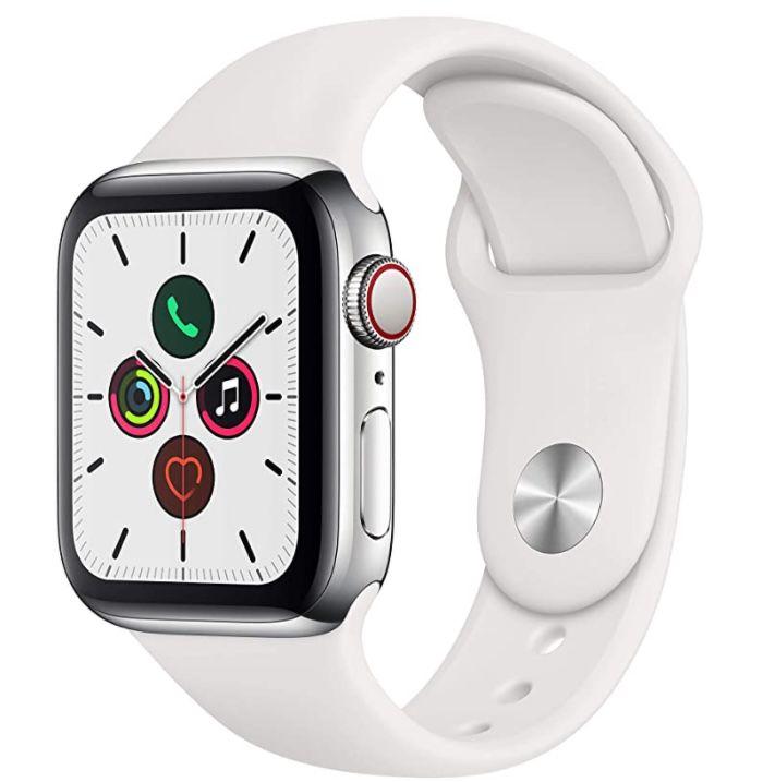 Apple Watch Series 5 GPS + LTE 40mm mit Edelstahlgehäuse für 388€(statt 585€)