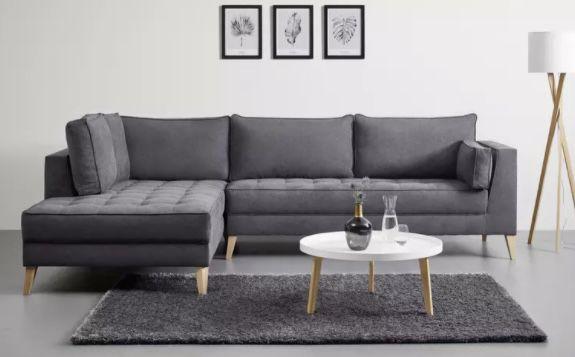 Bessagi home Lena graue Wohnlandschaft ab 699€ (statt 999€)