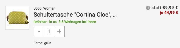 JOOP! Damen Schultertasche Cortina Cloe für 50,94€ (statt 74€)