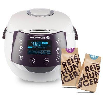 Reishunger Reiskocher (860W, 1,5 Liter) + 2x Bio-Reis für 99,99€ (statt 143€)