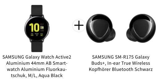 🔥 Samsung Galaxy Watch Active2 Smartwatch in 44mm + Galaxy Buds+ für 149€ (statt 256€)