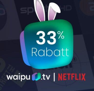 Endet heute: 12 Monate waipu TV Perfect Plus für 8,70€ mtl. (statt 13€) oder Perfect Plus inkl. Netflix für 16,41€ mtl. (statt 23€)