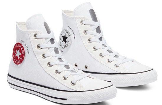 Converse Chuck Taylor All Star High Patch Logo Sneaker in Weiss für 39,99€ (statt 60€)