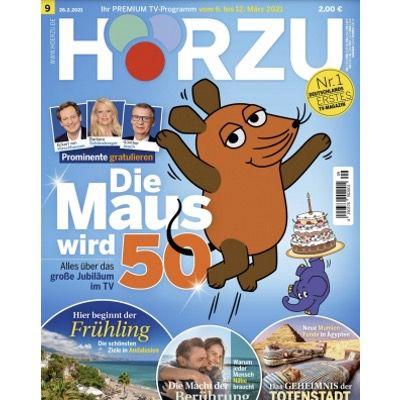52x Hörzu Programmmagazin für 130€ + Prämie: 105€ Scheck – oder direkt einmalig 19,90€