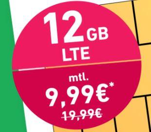 o2 Allnet Flat inkl. 12GB LTE50, VoLTE und WiFi Call für 9,99€ mtl.   monatlich kündbar!