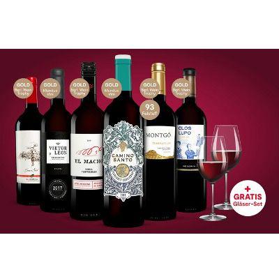 6 Flaschen Rotwein inkl. 2x Schott Zwiesel Weingläser ab 24,99€ (statt 60€) – oder 2 Pakete für 48,99€