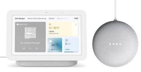 Google Nest Hub 2. Generation + gratis Google Nest mini für 89€ (statt 119€) + 6 Monate Spotify Premium