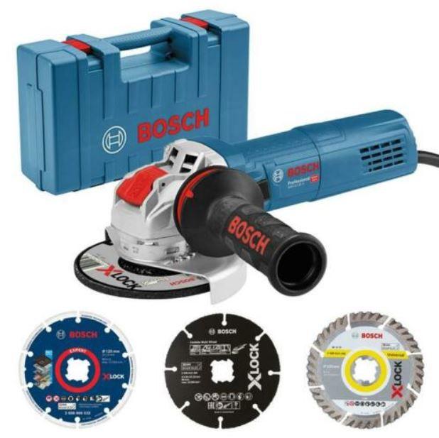 Bosch Professional GWX 9-125 S Winkelschleifer  + 3 X-LOCK Trennscheiben + Koffer für 103,41€ (statt 129€)