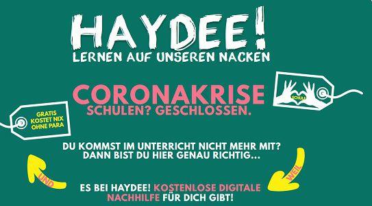 Haydee: Gratis Nachhilfe für bedürftige Schüler