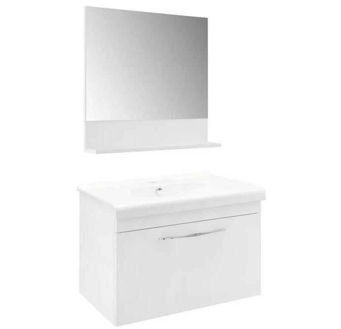 Bessagi Waschtischkombination Luna in weiß inkl. Spiegel für 174€ (statt 249€)