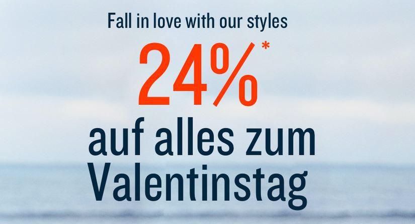 Tom Tailor Valentins Sonntag mit 24% Rabatt auf Alles   auch im Sale!