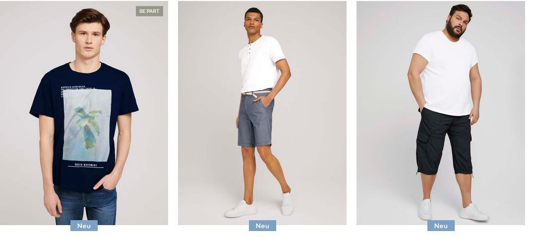 Tom Tailor Vatertag Sale mit 20% Rabatt auf alle Herren Kleidung