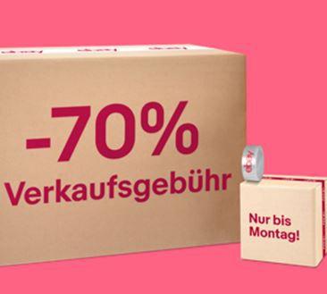 eBay: -70% Verkaufsprovision bis Montag – max 100 Artikel für ausgewählte Member