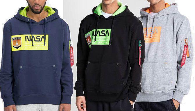 Alpha Industries Hoodie Mars Neon in 3 Farben für je 35,99€ (statt 65€)