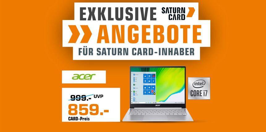 🔥 Es geht los! Saturn Card Club Aktion  z.B. ASUS Chromebook 14Zoll für 339€ (statt 399€)