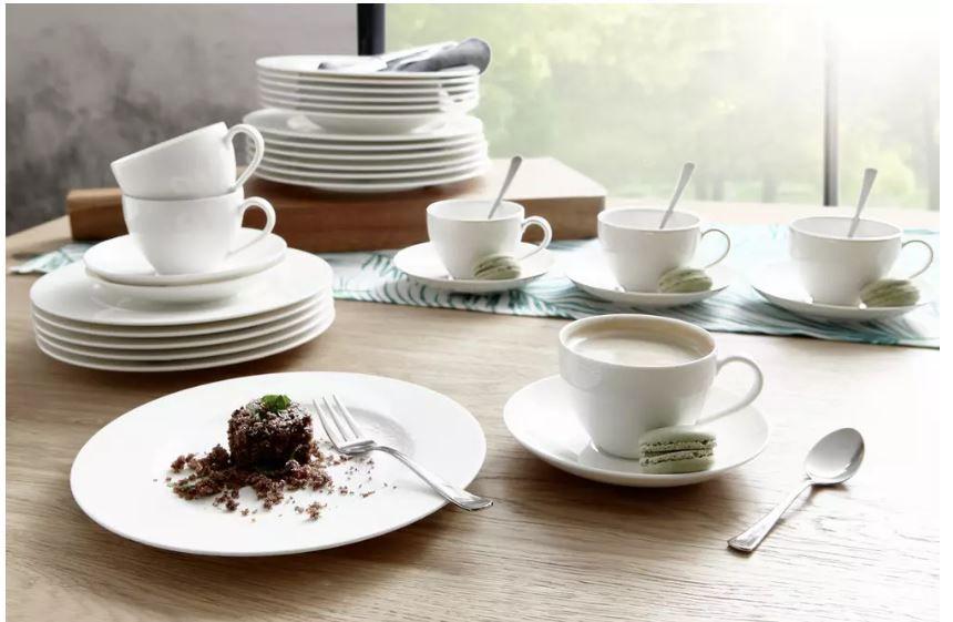 Villeroy & Boch Basic White Geschirr Set 30 teilig ab 93,94€ (statt 115€)