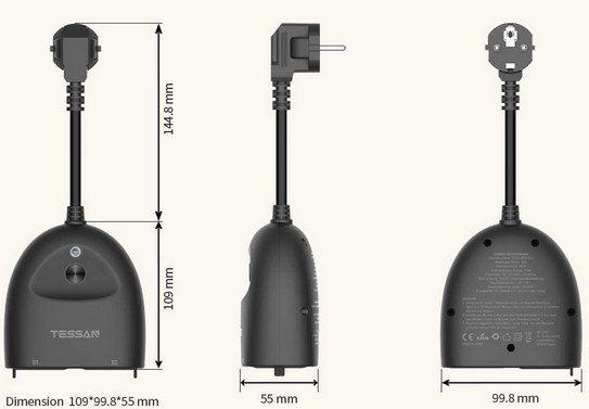 Tessan EOP03 WLAN Außensteckdose (Alexa & Google Home & IFTTT) für 14,49€ (statt 29€)