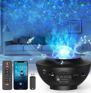 LED Sternenhimmel Projektor mit Bluetooth, Lautsprecher & 10 Farbmodi für 19,99€ (statt 40€)