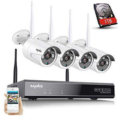SANNCE 5MP 8CH Wireless NVR + 4x3MP WLAN Außenkameras inkl. 1TB HDD für 233,74€ (statt 280€)