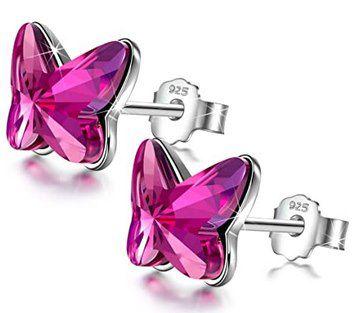 Angel Nina Damen Ohrring Schmetterling für 7,99€   Prime