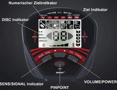 DRMOIS Metalldetektor mit LCD Display für 90,30€ (statt 129€)