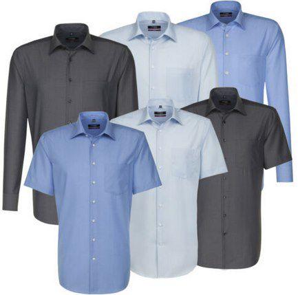 Seidensticker bügelfreies Popeline Business Hemd mit Kentkragen für 24,95€