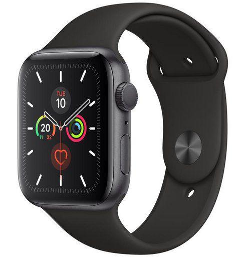 Apple Watch Series 5 (GPS, 44mm & Cellular) in Schwarz mit Sportarmband für 359,91€ (statt 400€)