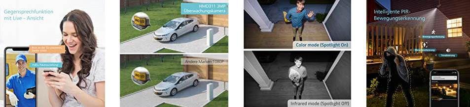 HeimVision HD 3MP WLAN IP Kamera wasserdicht mit Nachtsicht für 35,99€ (statt 60€)