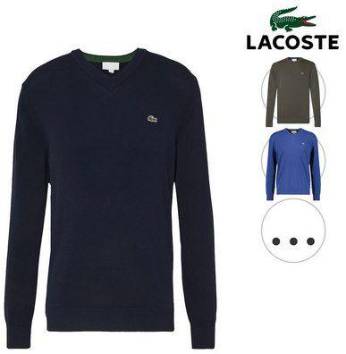 Lacoste AH2183 Pullover mit V Ausschnitt oder Rundhals in 6 Farben für je 50,90€ (statt ~80€)
