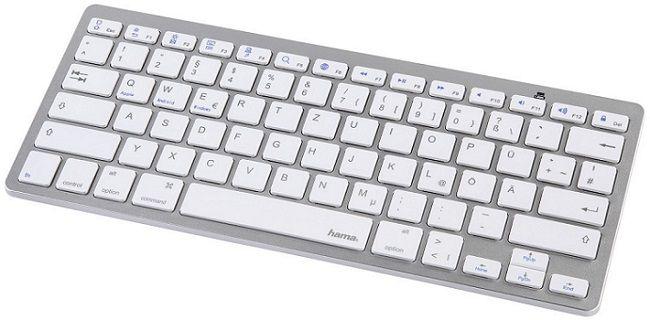 HAMA KEY4ALL X510 Tastatur in Silber für 22,08€ (statt 25€)