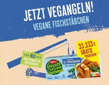 Iglo: Green Cuisine vergane Fischstäbchen kostenlos ausprobieren