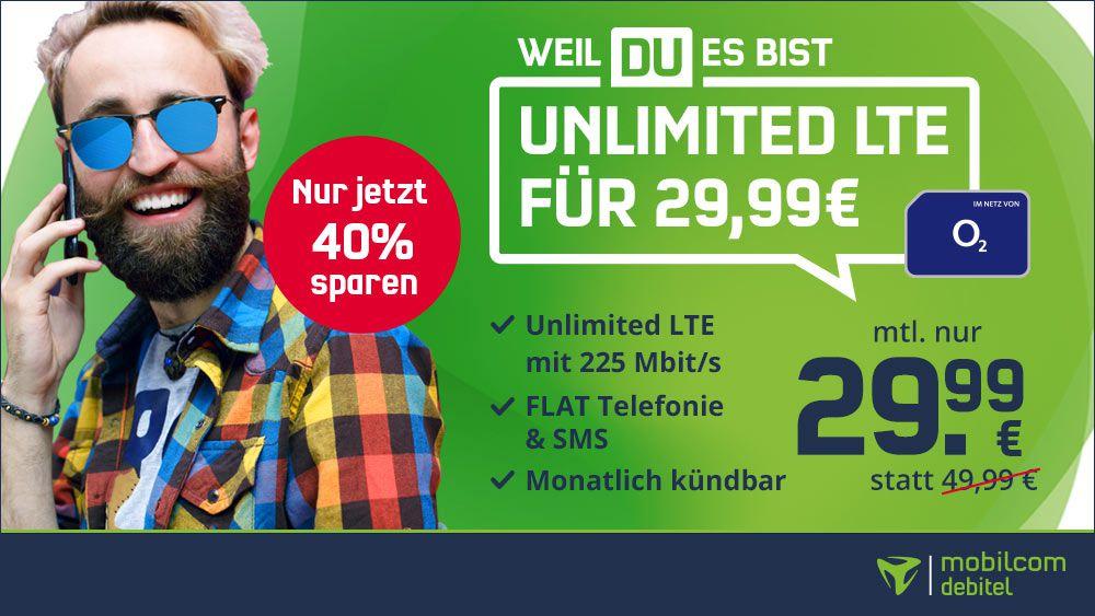Endet heute: 🔥 o2 Free Unlimited LTE Max für 29,99€ mtl. (statt 50€) + 2 Monate Gymondo gratis   monatlich kündbar