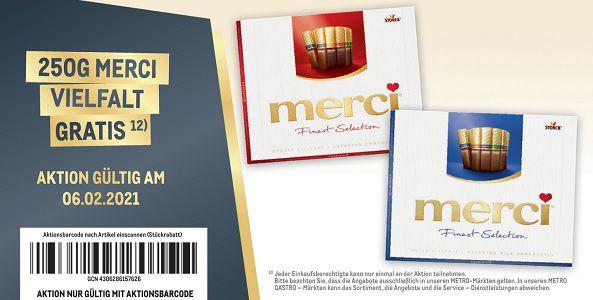 Metro: NUR am 6.2. merci Finest Selection Vielfalt gratis