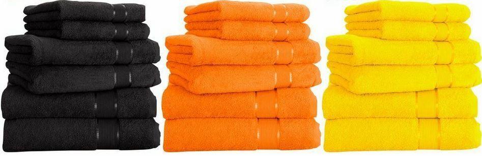 6 Handtücher aus 100% Baumwolle (je 2x Dusch , Hand  & Gästetuch) für 17,99€ (statt 25€) – 14 Farben
