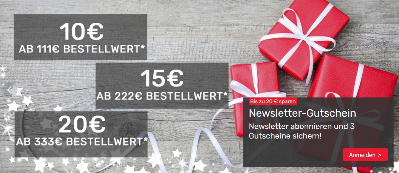 Tipp! Neckermann bis 20€ Rabatt dank Newsletter Anmeldung
