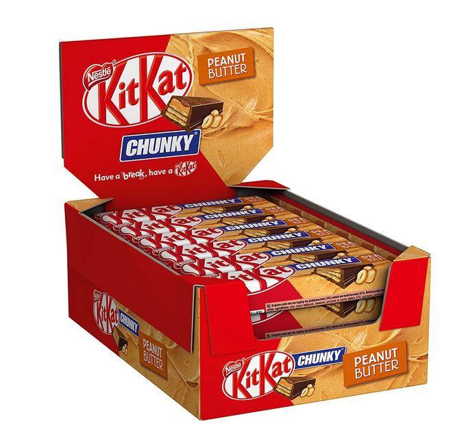 KitKat ChunKy Peanut Butter für 9,49€ (statt 16€) Prime