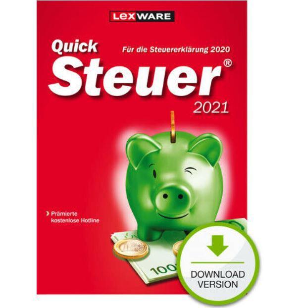 Lexware QuickSteuer 2021 für das Steuerjahr 2020 für 9,99€ (statt 12€)