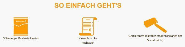 Drei Seeberger Produkte kaufen   Motiv Teigroller gratis erhalten