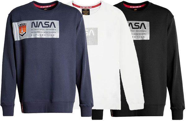 Alpha Industries Sweatshirt Mars Reflective in 3 Farben für je 29,99€ (statt 65€)