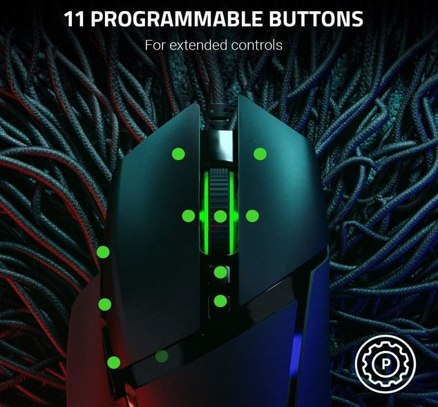 Razer Basilisk V2   Gaming Maus 20K DPI 11 Tasten für 49,99 (statt 57€)